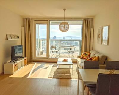 Slnečný 2i byt, 57 m2, zariadený, s balkónom, Panorama City