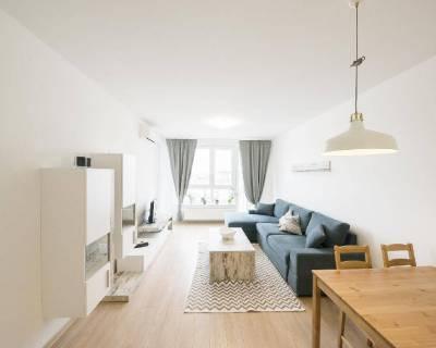 Príjemný 2i byt, 60m2, zariadený, balkón, parkovanie