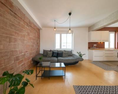 Zaujímavý, priestranný 1i byt, 50 m2, zariadený, parkovanie