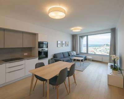 Moderný, zariadený 2i byt, 55m2, lodžia, parkovanie, Sky Park